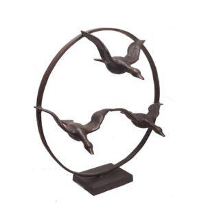 Bronzen sculptuur In vogelvlucht